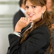 Business woman in an office — Stock Photo