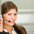 Customer services woman — Stock Photo