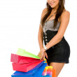 Fashion woman with shopping bags — Photo