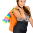 Fashion woman with shopping bags — Stock Photo