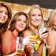 Girl friends in a bar — Stock Photo #7654039