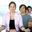 Doing meditation — Stock Photo