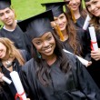 Group of graduation students — Stock Photo