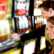 Couple at the casino — Stock Photo