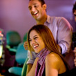 Friends at a casino — Stock Photo