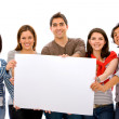 Banner add - group of friends — Stock Photo #7654145