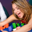 Woman in a casino — Stock Photo #7654172