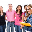 Stockfoto: Young students isolated