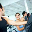 Stock Photo: Group at a gym - cardio