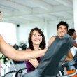 Royalty-Free Stock Photo: Friends at a gym