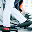 Gym on x-trainers - Stock Photo