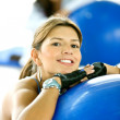 Gym woman portrait — Stock Photo #7654221