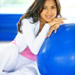 Gym woman portrait — Stock Photo