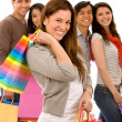 Friends shopping — Stock Photo #7654237