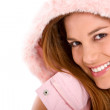 Stock Photo: Happy winter woman