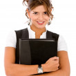 Woman with a folder — Stock Photo #7654288