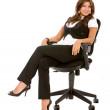 Business woman sitting — Stock Photo