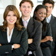 Business woman and her team — Stock Photo #7654303