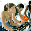 Royalty-Free Stock Photo: Spinning at the gym