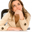 Royalty-Free Stock Photo: Pensive businesswoman