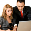 Royalty-Free Stock Photo: Business couple on a laptop