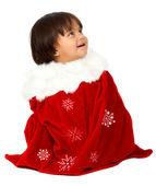 Weihnachten baby portrait — Stockfoto
