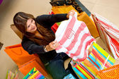 Shopping for a gift — Stock Photo