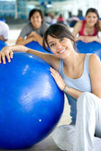 Pilates woman — Stock Photo