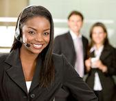 Customer services woman — Stock Photo