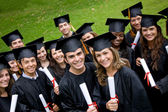 Graduation students — Foto Stock