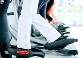 Gym on x-trainers — Stock Photo