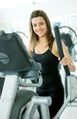 Woman at the gym - cardio — Stock Photo