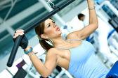 Donna esercitando — Foto Stock