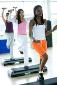 Woman at a gym class — Stock Photo
