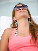 Summer girl relaxing — Stock Photo