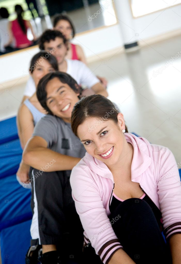 Group of at the gym smiling  Stock Photo #7654053
