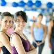 Group of in gym — Stock Photo #7700289