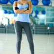 Beautiful woman at a gym - Foto Stock