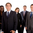 Stock Photo: Business team isolated