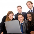 Business team on a laptop — Stock Photo #7700319