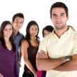 Casual man with friends — Stock Photo