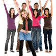 Cheerful group of — Stock Photo
