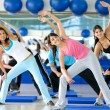 Aerobics class in a gym — Stock Photo #7700462