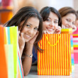 amici dello shopping — Foto Stock