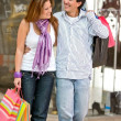 Casual couple shopping — Stock Photo #7700502