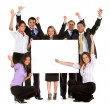 Royalty-Free Stock Photo: Business team - banner ad