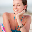 Woman on vacations - Stock Photo