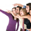 Stock Photo: Friends pointing out