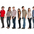 Large casual group — Stock Photo