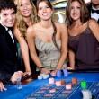 Casino players — Stock Photo